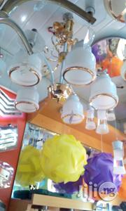 Five In One Chanderlier Lighting White Color With A Little Gold | Home Accessories for sale in Lagos State, Ikoyi