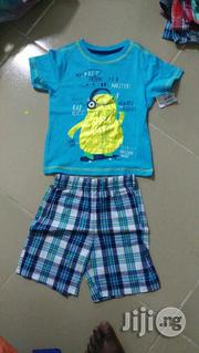 Roundneck Shirts And Check Short | Children's Clothing for sale in Lagos State, Ikeja