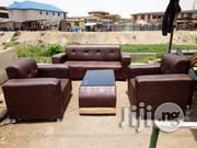 5 Seater Leather Sofa And Glass Leather Centre Table For Sale   Furniture for sale in Lagos State
