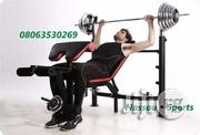 Commercial Bench Press With 50kg Barbell | Sports Equipment for sale in Lagos State, Surulere