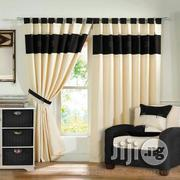 Exotic Curtains Cream And Black Color | Home Accessories for sale in Lagos State, Ikoyi