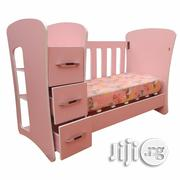 Passion Baby Cot With Shelf, Drawers And Removable Sides   Children's Furniture for sale in Lagos State, Lagos Mainland
