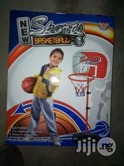 Adjusted Kids Basketball Stand With Ball And Pump | Toys for sale in Lagos State, Surulere