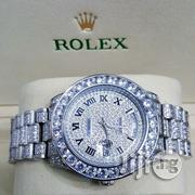 Rolex Day-Date Stone Diamond Chain Watch | Watches for sale in Lagos State, Oshodi-Isolo