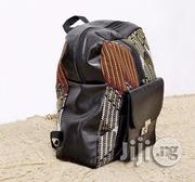 School Bag With Leather And Ankara Prints | Babies & Kids Accessories for sale in Lagos State, Lagos Mainland