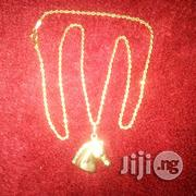 ITALY 750 Original Gold Necklace Twisted With Horse Head Pendant | Jewelry for sale in Lagos State, Lagos Island