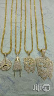 Pure Gold 750 Italy Gold 18karat New Design Chain And Pendant | Jewelry for sale in Lagos State, Yaba