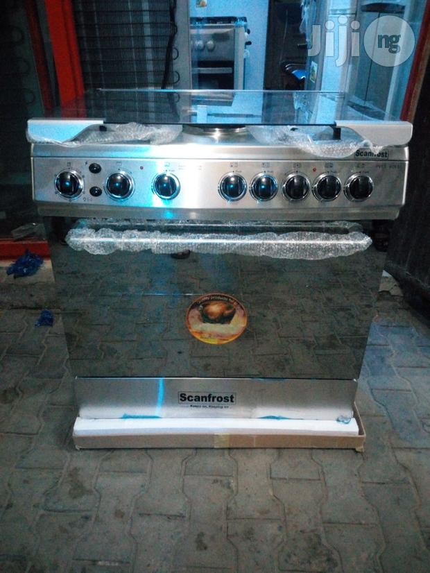 Scanfrost 5burners(4+1)Cooker,Oven Grill With 2yrs Wrnty.