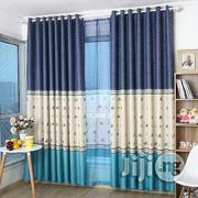 Thick Curtains Blue /Yellow | Home Accessories for sale in Lagos State, Ikeja