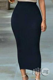 Black Long Midi Bodycon Skirt   Clothing for sale in Lagos State, Lagos Mainland
