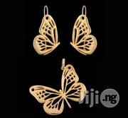 Bruna Gold Butterfly Earring With Pendant | Jewelry for sale in Lagos State, Ikeja