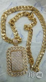 Italya 18 Karat Cuban Chain & Pendant | Jewelry for sale in Lagos State, Yaba