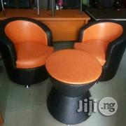 Two Seaters With Table Orange/Black Color Sofa Chairs   Furniture for sale in Lagos State, Lekki Phase 2