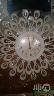Designer Silver Battery Wall Clock. | Home Accessories for sale in Lagos State, Lagos Island