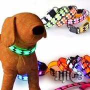 Safety Pets Dogs LED Collar Lighted Up Nylon Rhombus Pattern | Pet's Accessories for sale in Lagos State, Lagos Mainland