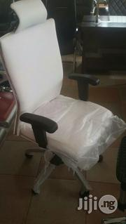 White Swivel Chair With Headrest | Furniture for sale in Lagos State, Ikoyi