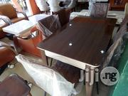 Wooden Glass Top Dining by 6. | Furniture for sale in Lagos State, Ojo